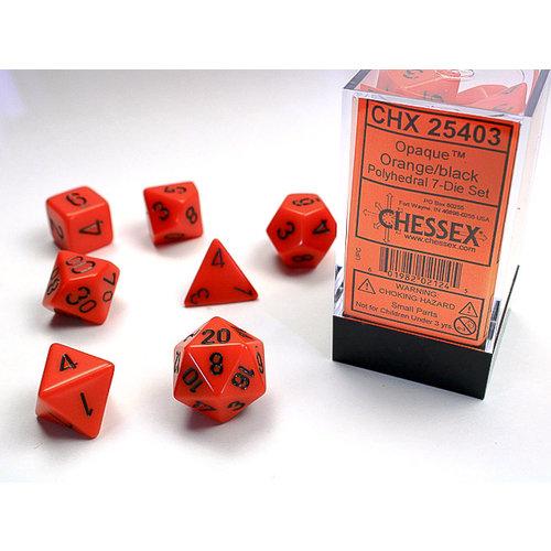 Chessex DICE SET 7: OPAQUE - ORANGE