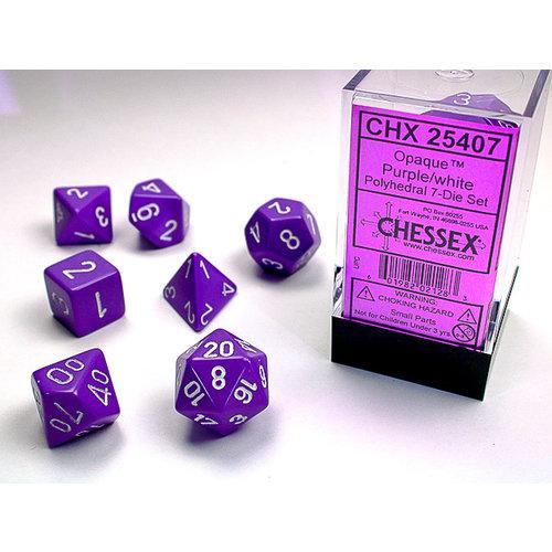 Chessex DICE SET 7 OPAQUE PURPLE