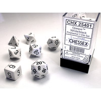 DICE SET 7 OPAQUE WHITE