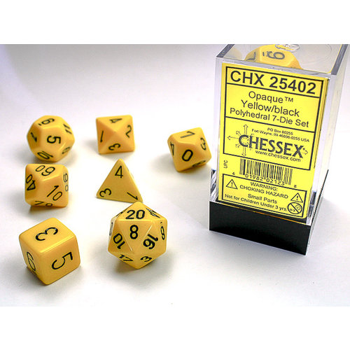 Chessex DICE SET 7 OPAQUE YELLOW