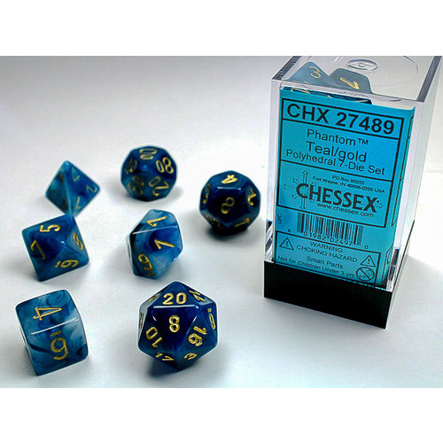 Chessex DICE SET 7 PHANTOM TEAL