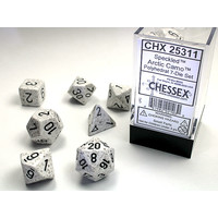 DICE SET 7 SPECKLED ARCTIC CAM