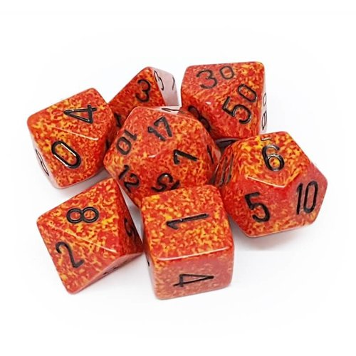 Chessex DICE SET 7 SPECKLED FIRE