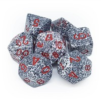 DICE SET 7 SPECKLED GRANITE