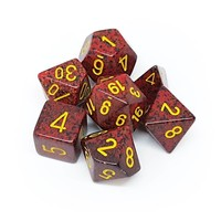 DICE SET 7 SPECKLED MERCURY