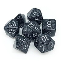 DICE SET 7 SPECKLED NINJA