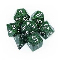 DICE SET 7 SPECKLED RECON
