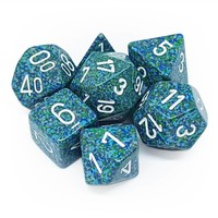 DICE SET 7 SPECKLED SEA