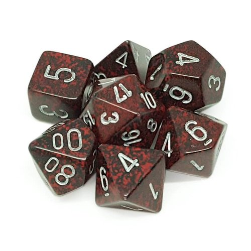 Chessex DICE SET 7 SPECKLED SILVER VOLCANO
