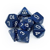 DICE SET 7 SPECKLED STEALTH