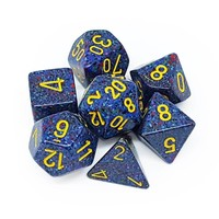 DICE SET 7 SPECKLED TWILIGHT