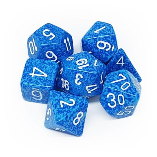 Chessex DICE SET 7 SPECKLED WATER