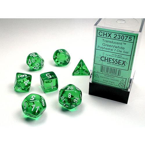 Chessex DICE SET 7 TRANSLUCENT: GREEN REVISED