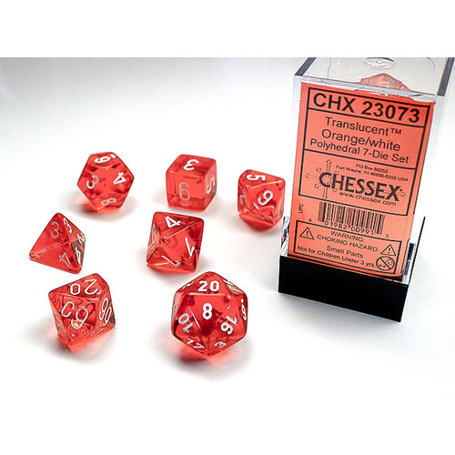 Chessex DICE SET 7 TRANS ORANGE