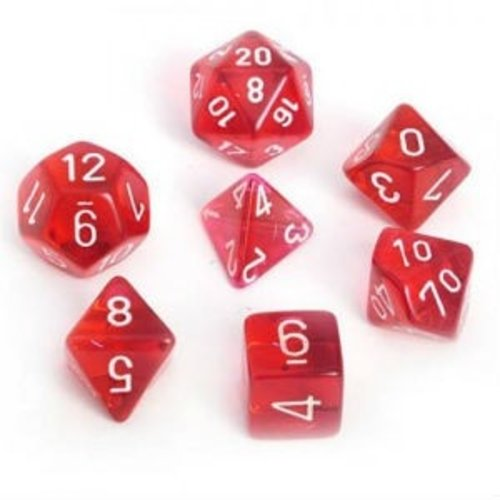 Chessex DICE SET 7 TRANS RED REVISED