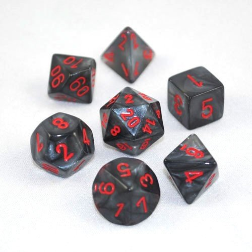 Chessex DICE SET 7 VELVET BLACK