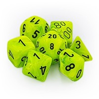 DICE SET 7 VORTEX BRIGHT GREEN