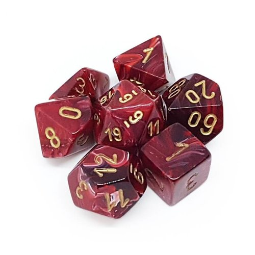 Chessex DICE SET 7 VORTEX BURGUNDY