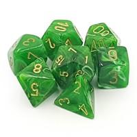 DICE SET 7 VORTEX GREEN