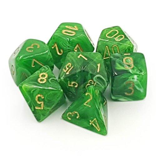 Chessex DICE SET 7 VORTEX GREEN