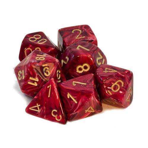 Chessex DICE SET 7 VORTEX RED