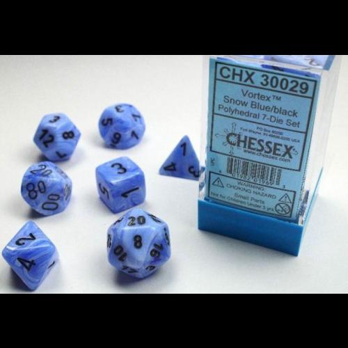 Chessex DICE SET 7 VORTEX SNOW BLUE