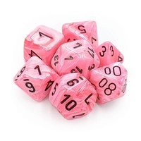 DICE SET 7 VORTEX SNOW PINK