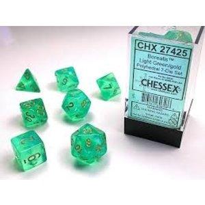 Chessex DICE SET 7 BOREALIS: LIGHT GREEN