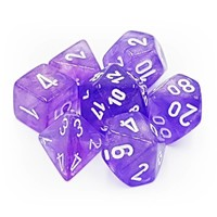 DICE SET 7 BOREALIS PURPLE