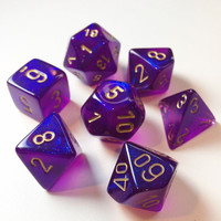DICE SET 7 BOREALIS ROYAL PURPLE