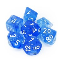 DICE SET 7 BOREALIS SKY BLUE