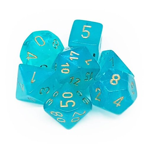 Chessex DICE SET 7 BOREALIS TEAL