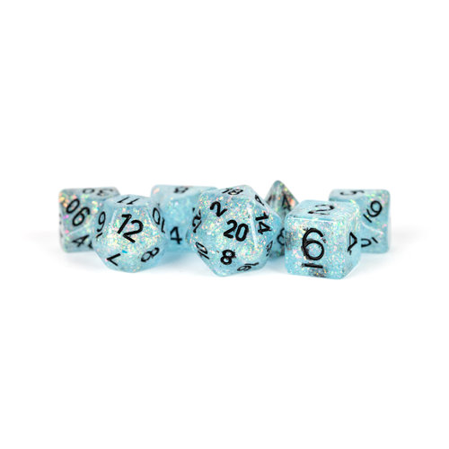 Metallic Dice Company DICE SET 7 FLASH: BLUE