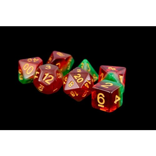 Metallic Dice Company DICE SET 7 FRUIT WATERMELON