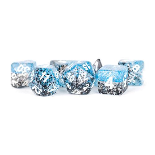 Metallic Dice Company DICE SET 7 PARTICLE: BLUE