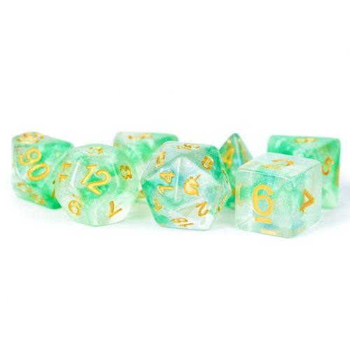 Metallic Dice Company DICE SET 7 UNICORN: ICY EVERGLADES