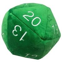 PLUSH: JUMBO D20 - GREEN