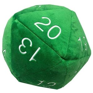 Ultra Pro International PLUSH: JUMBO D20 - GREEN