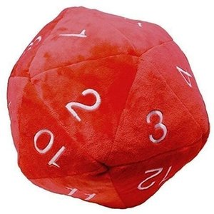 Ultra Pro International PLUSH: JUMBO D20 - RED