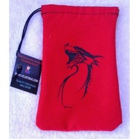 DICE BAG: RED TRIBAL DRAGON