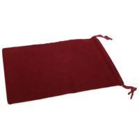 DICE BAG 5 x 7 CLOTH BURGUNDY