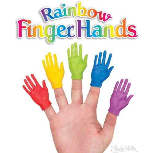 Archie McPhee FINGER HANDS RAINBOW ASSORTMENT
