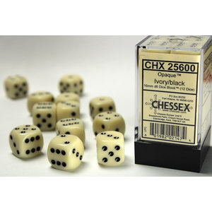 Chessex DICE SET: 16mm - OPAQUE IVORY