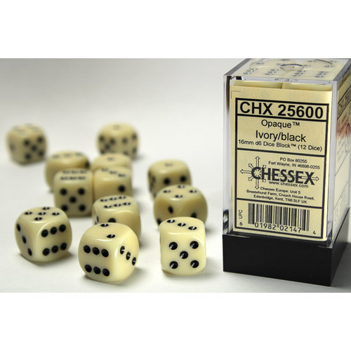 Chessex DICE SET 16mm OPAQUE IVORY