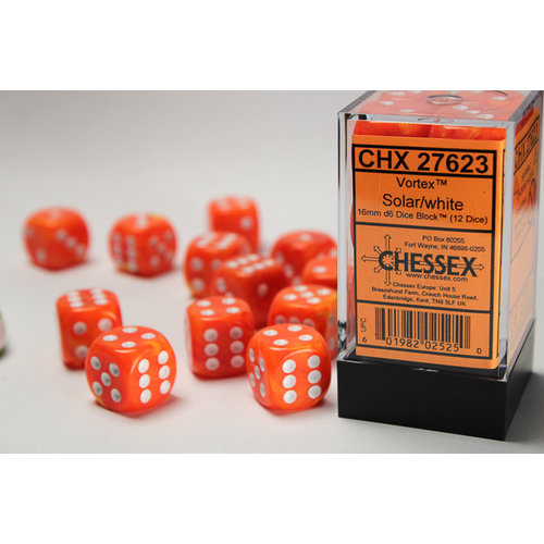 Chessex DICE SET 16mm VORTEX ORANGE