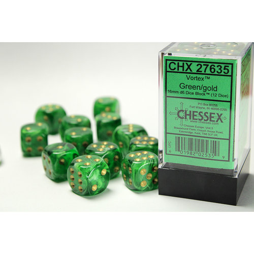 Chessex DICE SET 16mm VORTEX GREEN
