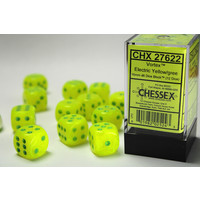 DICE SET 16mm VORTEX ELECTRIC YELLOW-GREEN