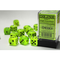 DICE SET 16mm VORTEX BRIGHT GREEN