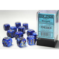 DICE SET 16mm VORTEX BLUE