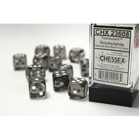 DICE SET 16mm TRANSLUCENT SMOKE/WHITE
